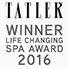 Tatler Spa Awards 2016 Winner