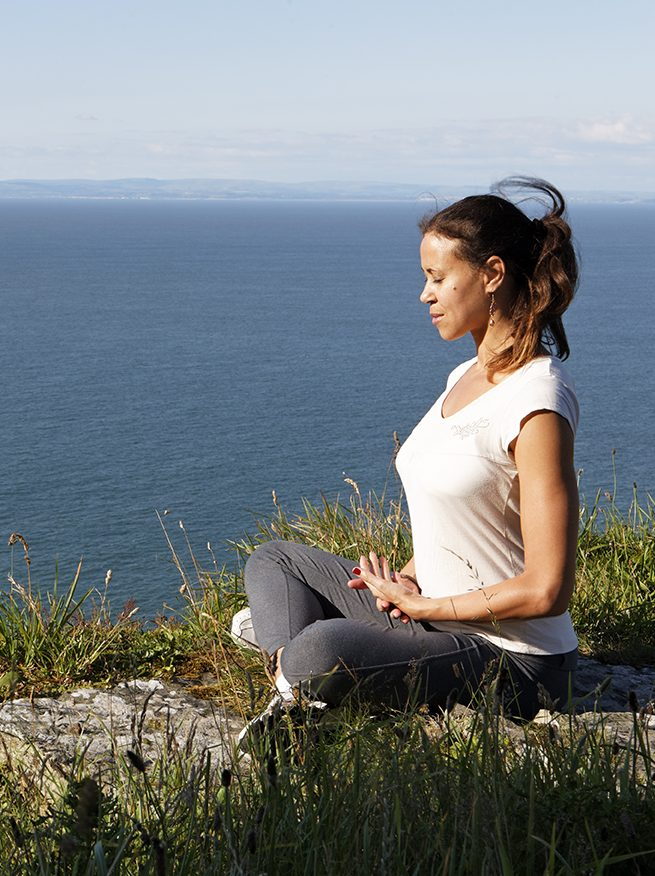 Meditation and mindfulness is a large part of our philosophy, here is Mercedes taking a moment to breath