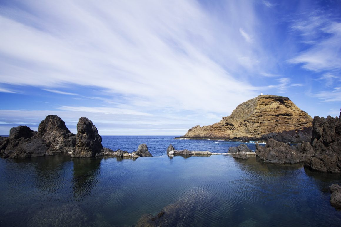 Natural swimming pools in madeira